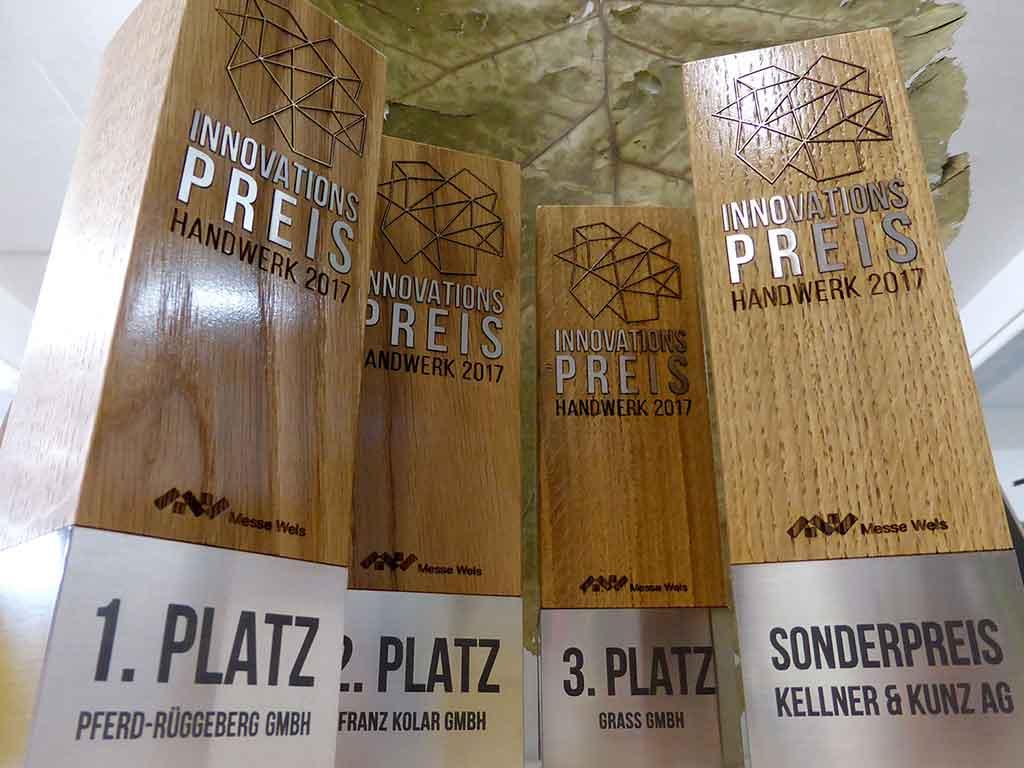 Award aus Holz und Metall 3 1