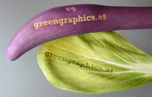 Lasergravur von Obst