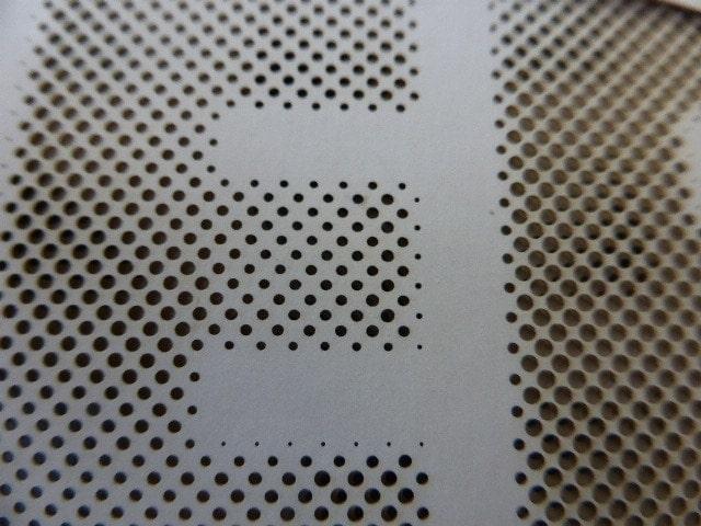 Laserstanzen von Papier