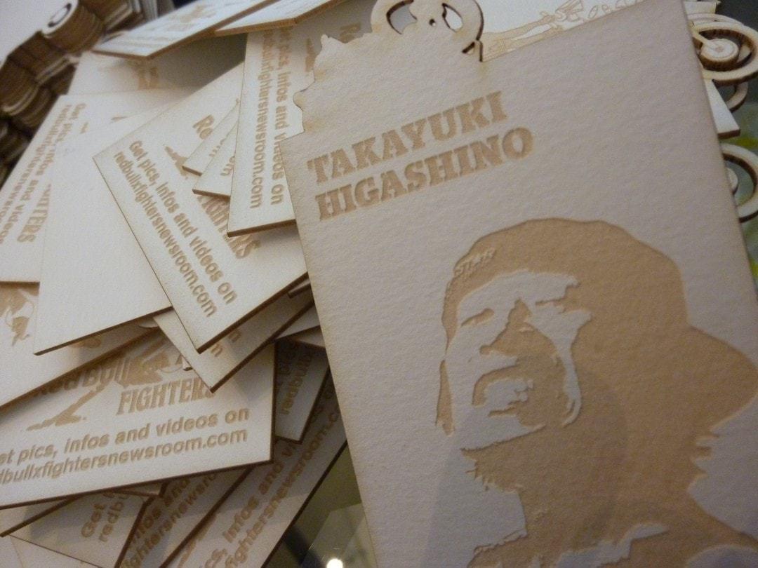 Visitenkarte aus ungestrichenen Papier