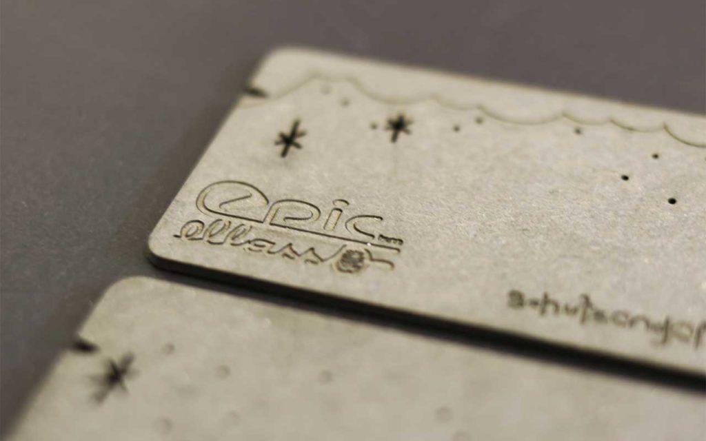 Visitenkarten brauner Karton