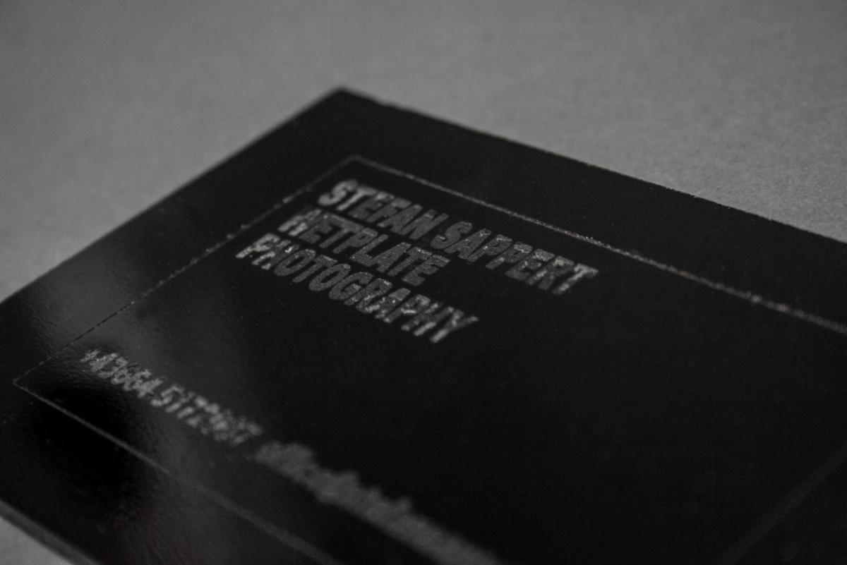 Visitenkarten aus Nassplatten