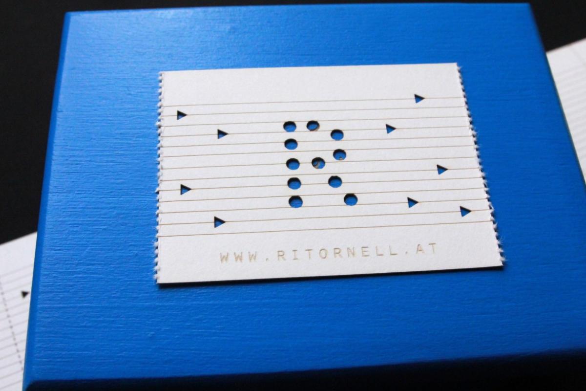 Visitenkarte Spieluhr