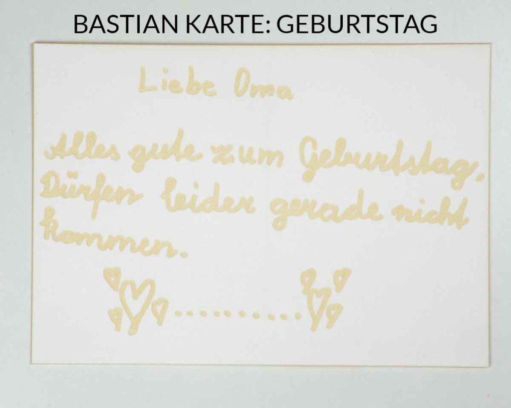 Postkarte mit Lasergravur - Geburtstag
