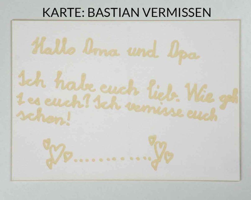 Postkarte mit Lasergravur - Vermissen