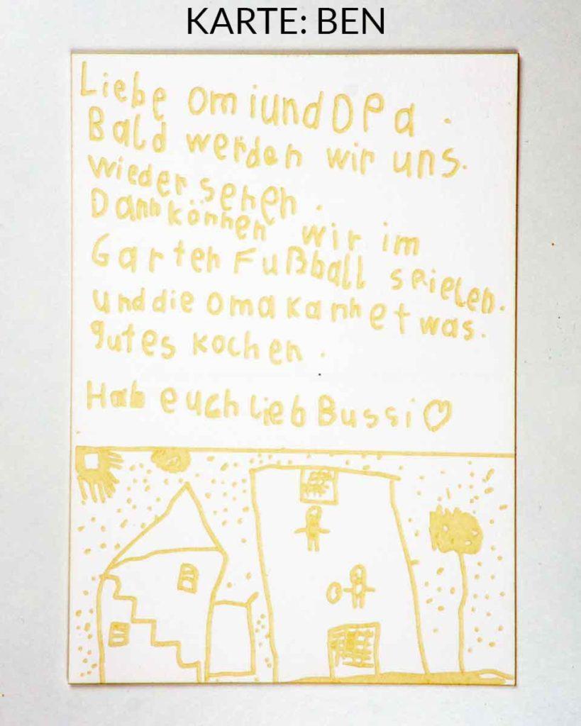 Postkarte mit Lasergravur - Fussball