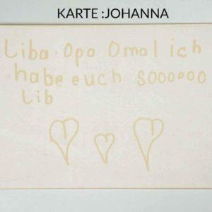 Postkarte mit Lasergravur - Liebe
