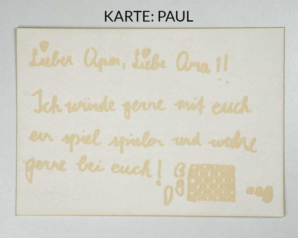 Postkarte mit Lasergravur - Spielen