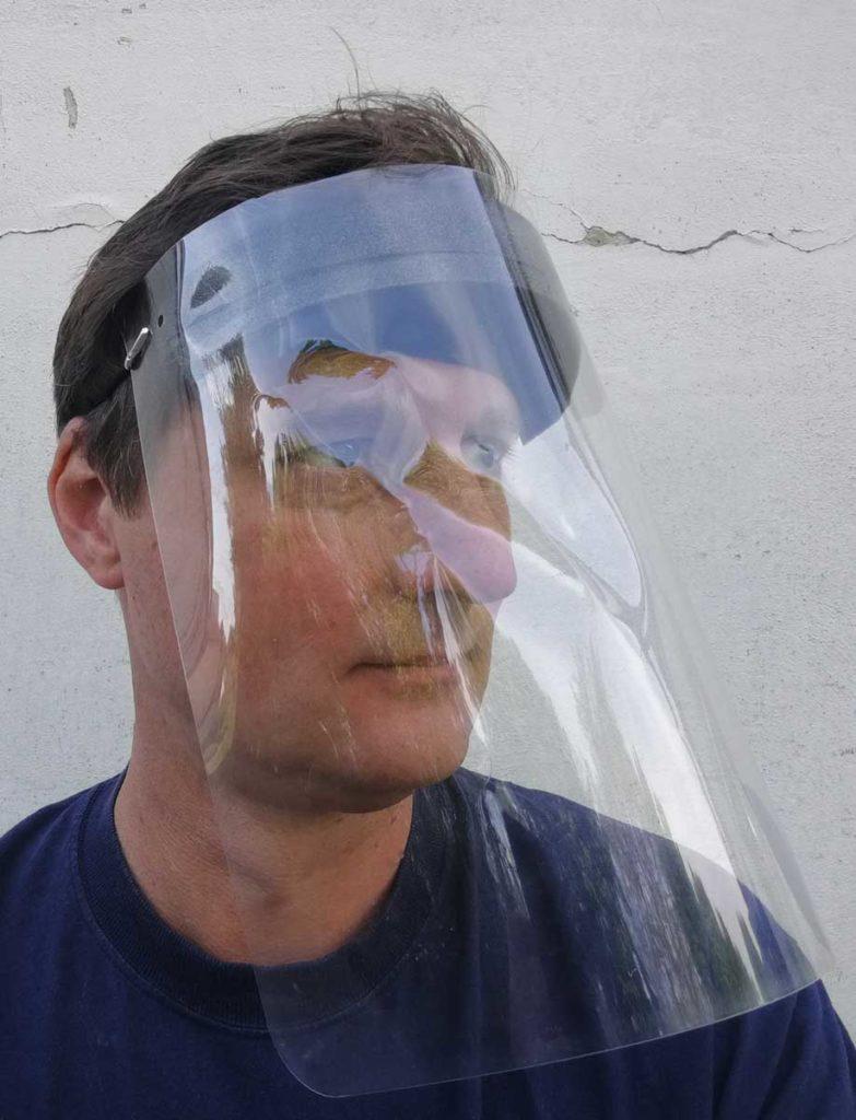 Gesichtsschild Aus Kunststoff seitenansicht