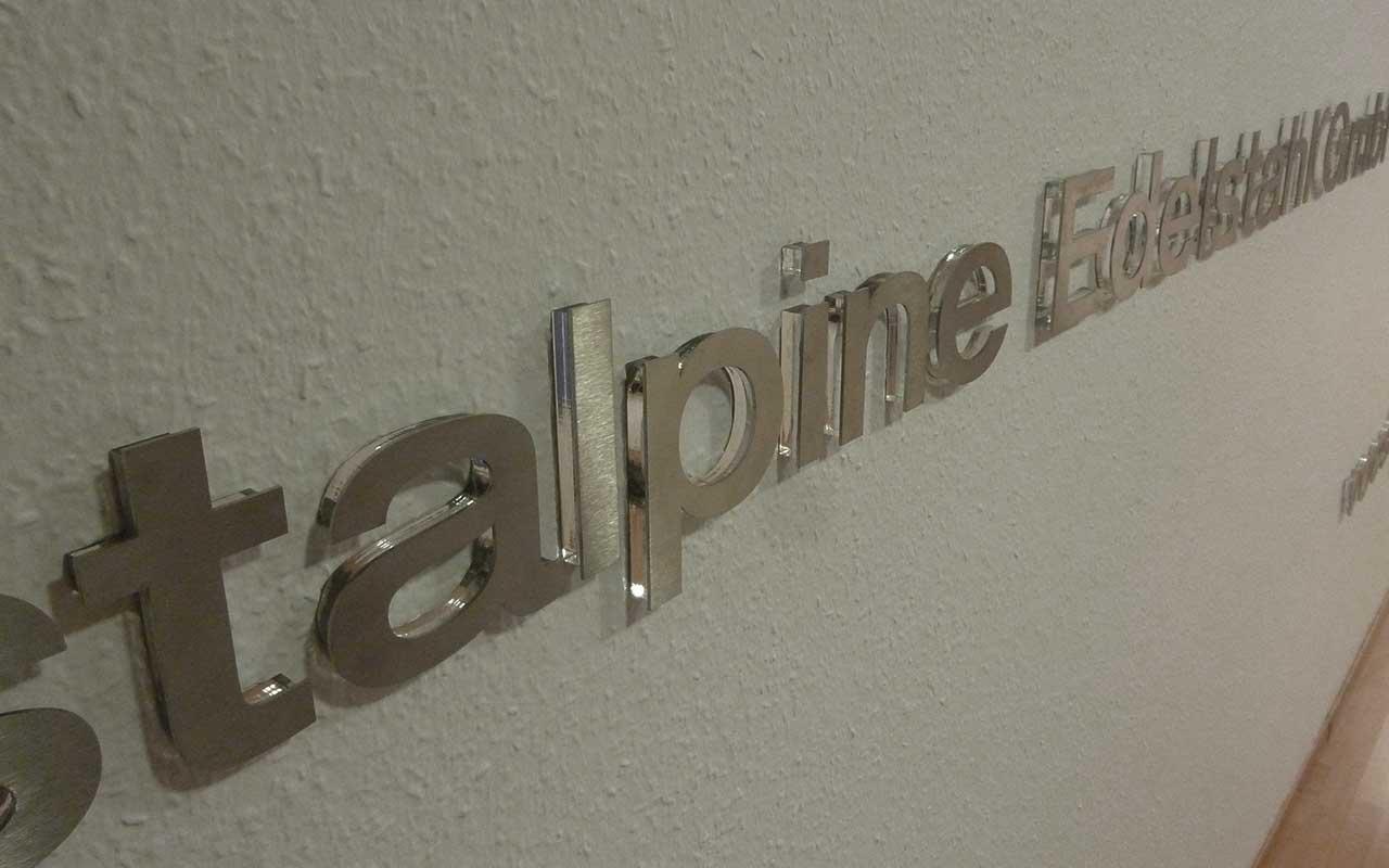 Einzelbuchstaben aus Edelstahl