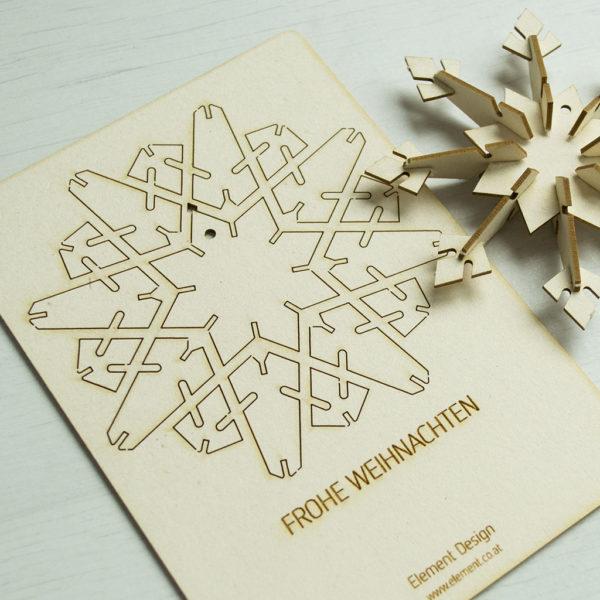 Weihnachtskarte aus Finnpappe
