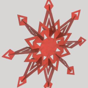 Weihnachtskarte zum Zusammenbauen